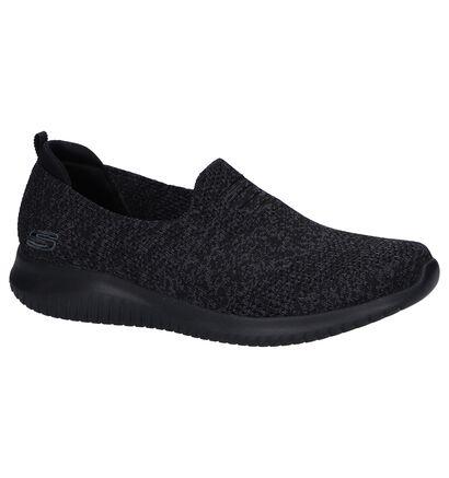 Blauwe Slip-on Sneakers Skechers Ultra Flex , Zwart, pdp