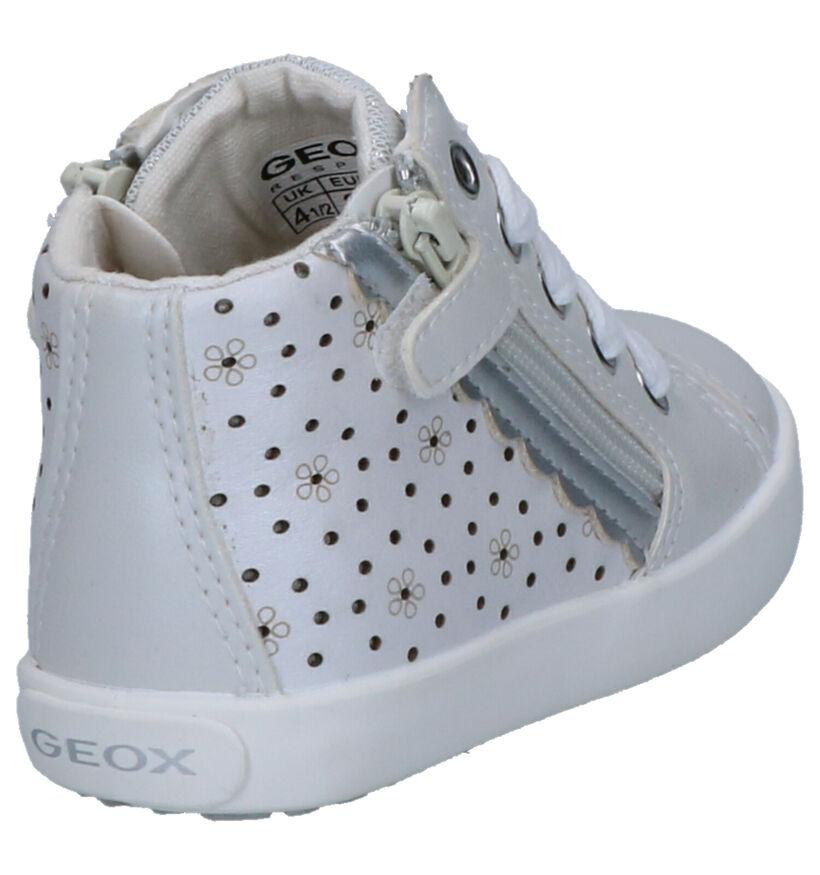 Geox Witte Hoge Schoenen in leer (265772)