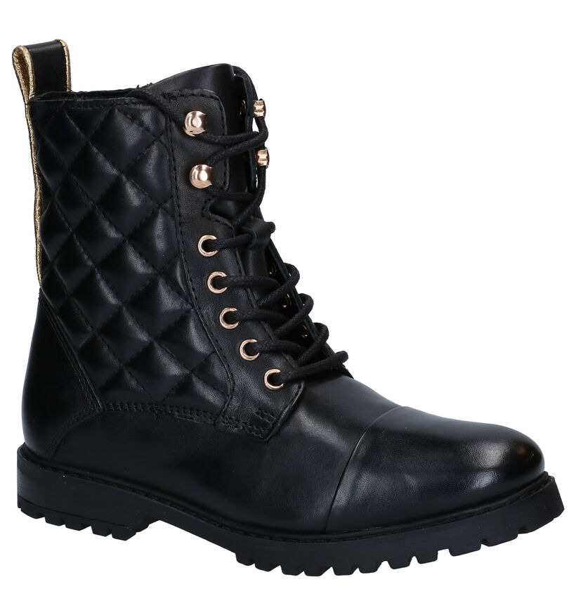Milo & Mila Chaussures hautes en Noir en cuir (278473)
