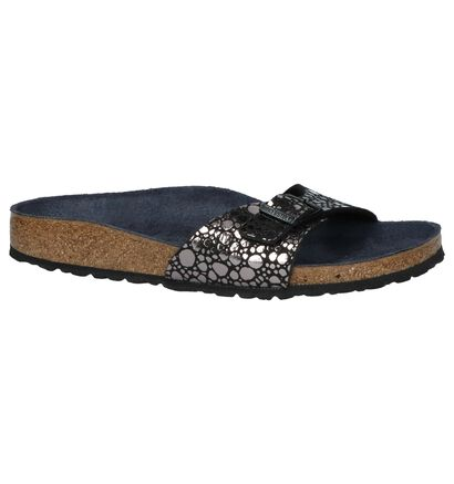 Birkenstock Madrid Slippers Zwart in kunstleer (255847)