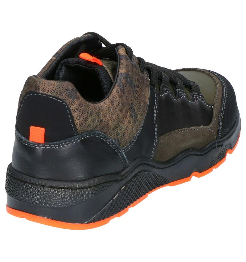 Little David Marouan Kaki Sneakers in daim (261726)