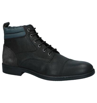 Geox Chaussures hautes en Noir en cuir (223072)