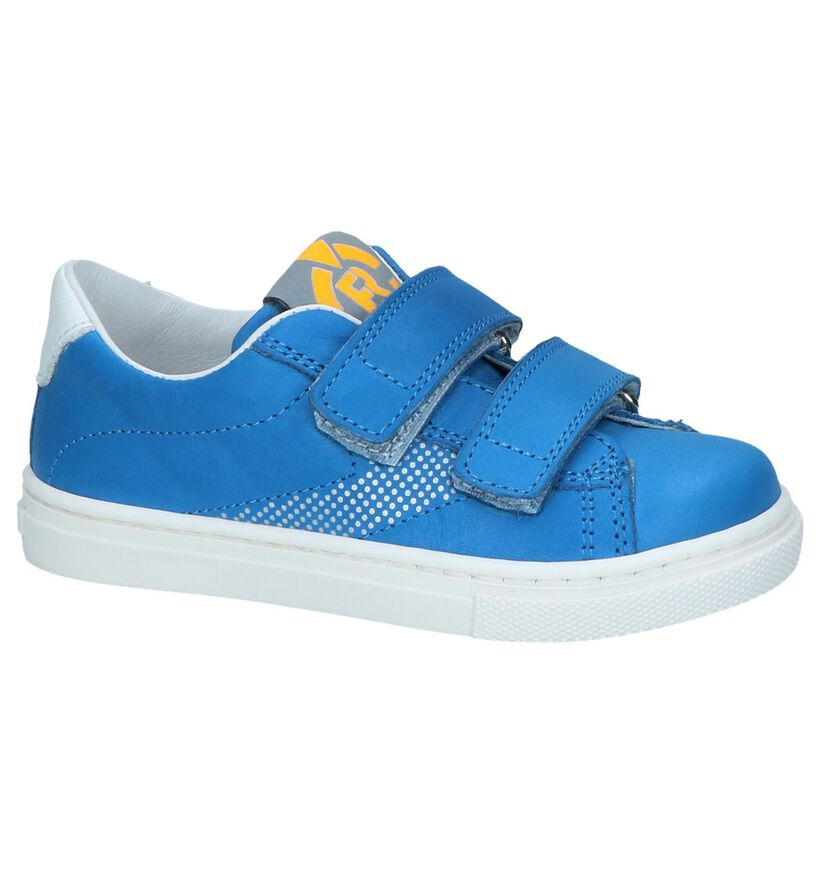 Blauwe Velcroschoenen FR by Romagnoli in leer (239944)