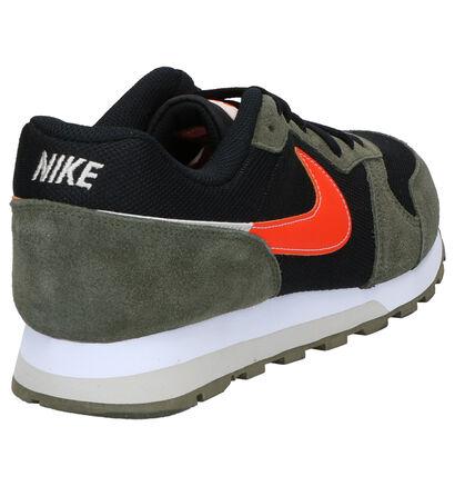Nike MD Runner 2 Kaki/Zwarte Sneakers in stof (253971)