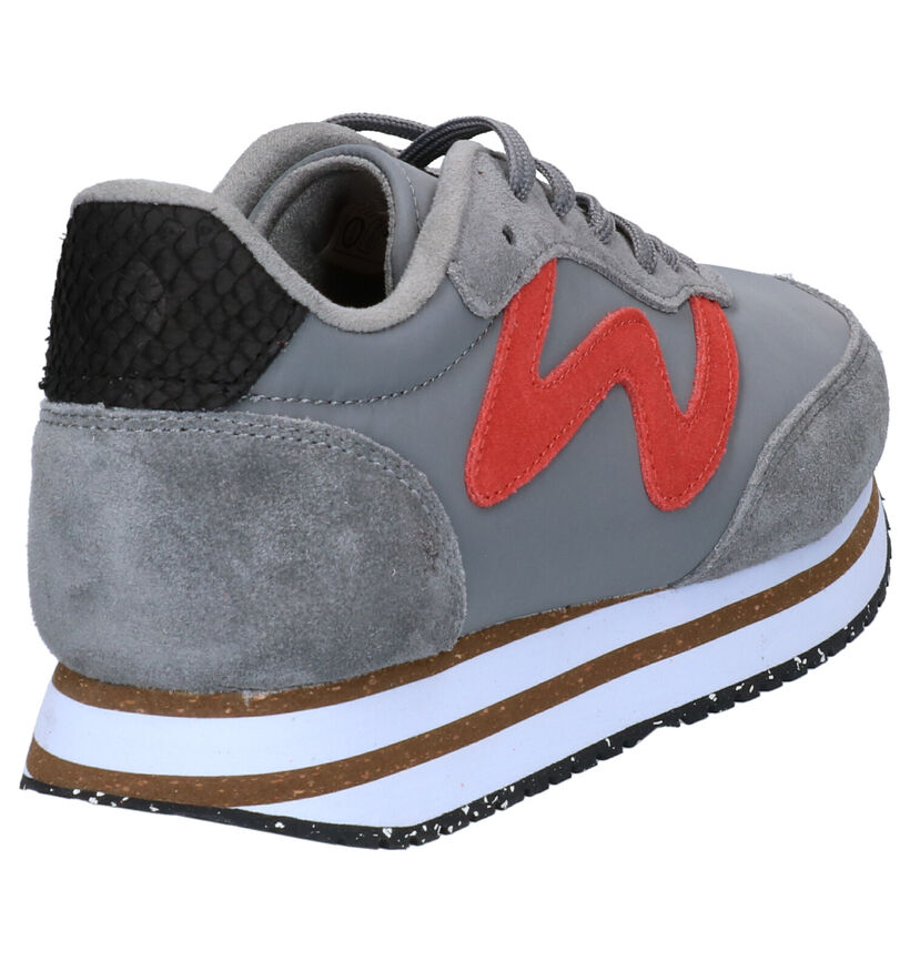 Woden Olivia Plateau Witte Sneakers in stof (277421)