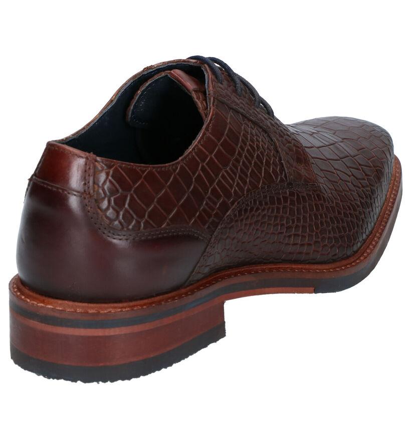 Chaos Chaussures habillées en Brun foncé en cuir (254864)