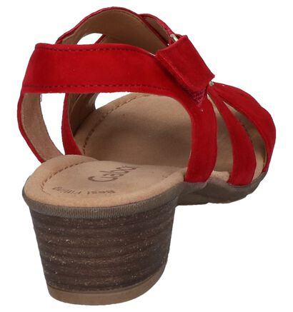 Gabor Best Fitting Sandales à talons en Rouge en daim (245467)