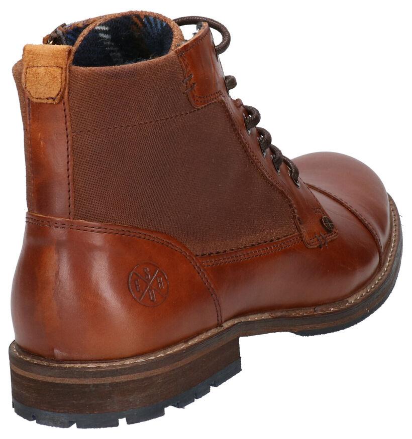Bullboxer Cognac Boots in leer (252794)