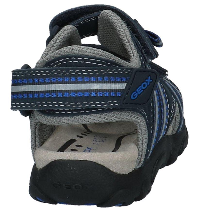 Geox Sandales de bain en Bleu foncé en textile (213174)