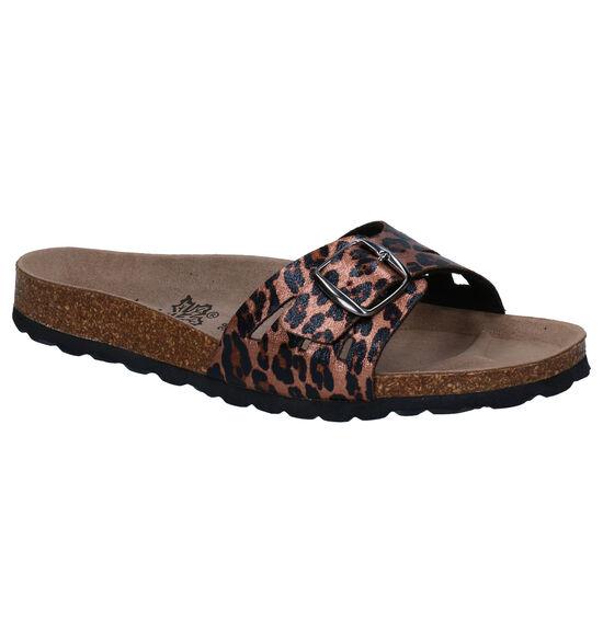 Big Leaf Bronzen Slippers