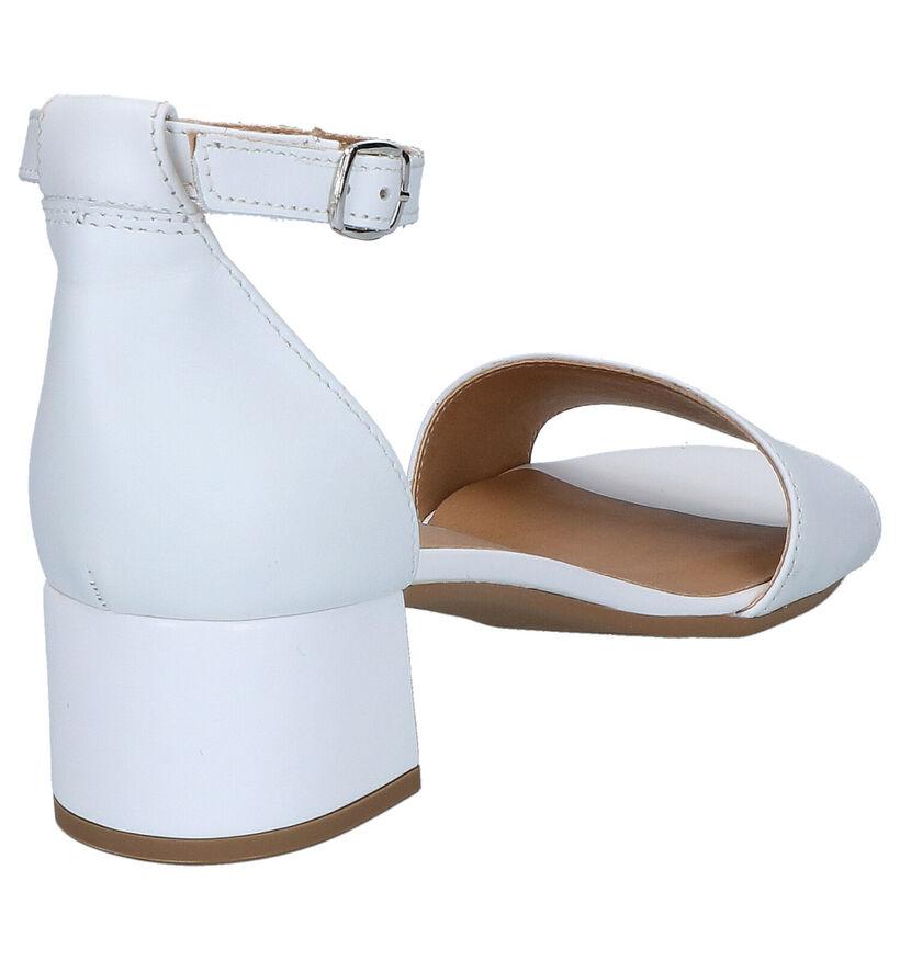 Tamaris Sandales à talons en Blanc en cuir (269791)