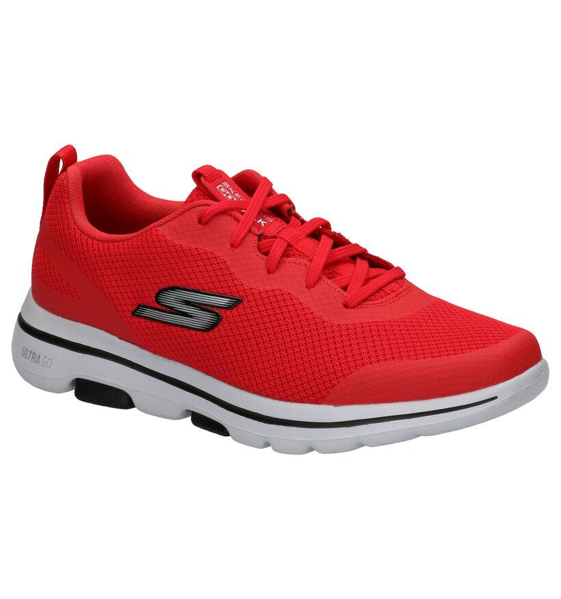 Skechers Go Walk 5 Sneakers en Bleu en textile (272826)