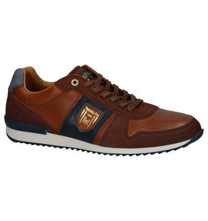 Cognac Casual Veterschoenen Pantofola d'Oro Umito Low in leer (240821)