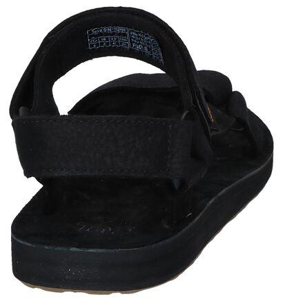 Teva Original Sandales en Noir en nubuck (242697)