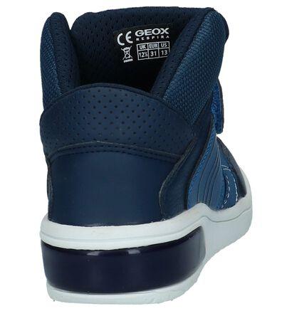 Geox Baskets hautes en Bleu foncé en imitation cuir (223182)