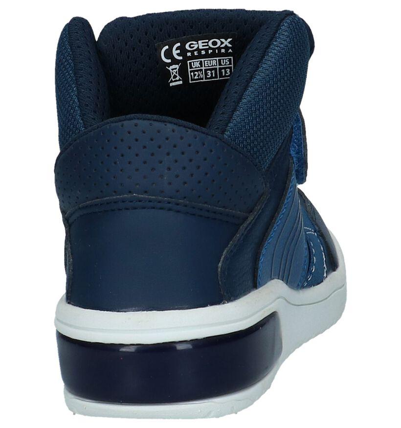 Geox Blauwe Hoge Sneakers met Lichtjes in kunstleer (223182)