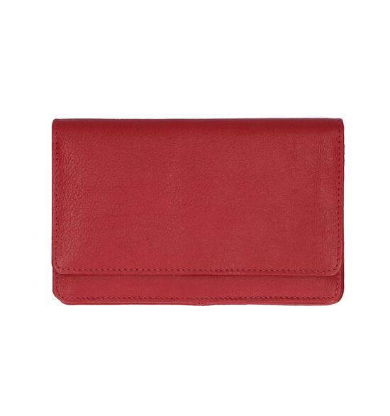 Euro-Leather Rode Overslagportemonnee