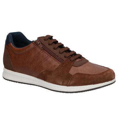 Geox Chaussures basses en Bleu foncé en simili cuir (266687)
