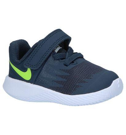Nike Star Runner Zwarte Babysneakers, Blauw, pdp