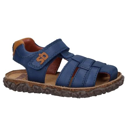 Cognac Sandalen Stones and Bones Natan in leer (239775)