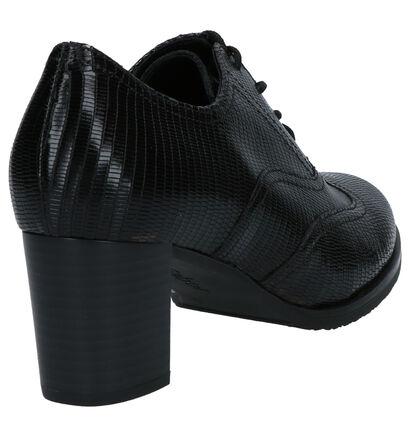 Gabor Chaussures à lacets en Brun foncé en cuir (260234)