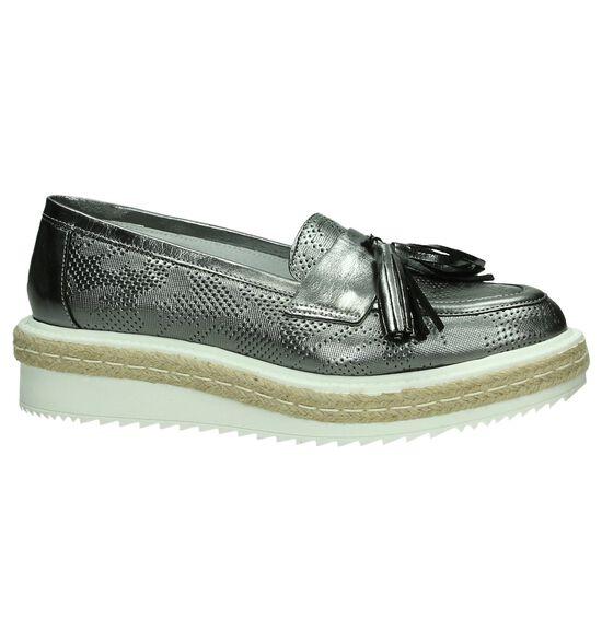 Zilveren Loafers Via Roma