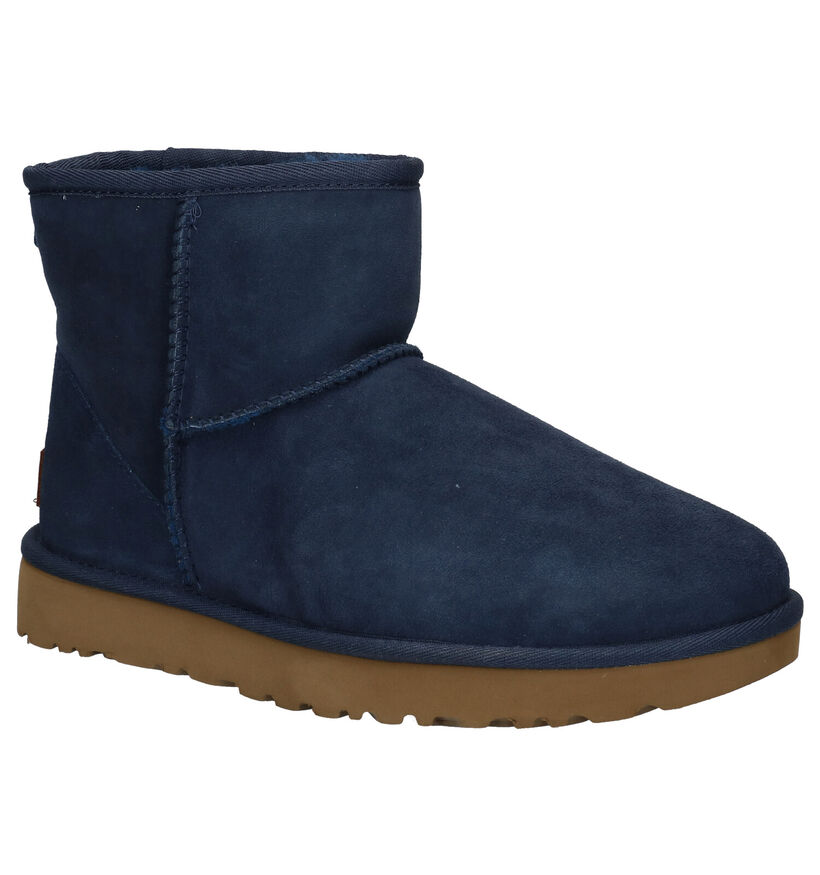 UGG Classic Mini Blauwe Boots in daim (280466)