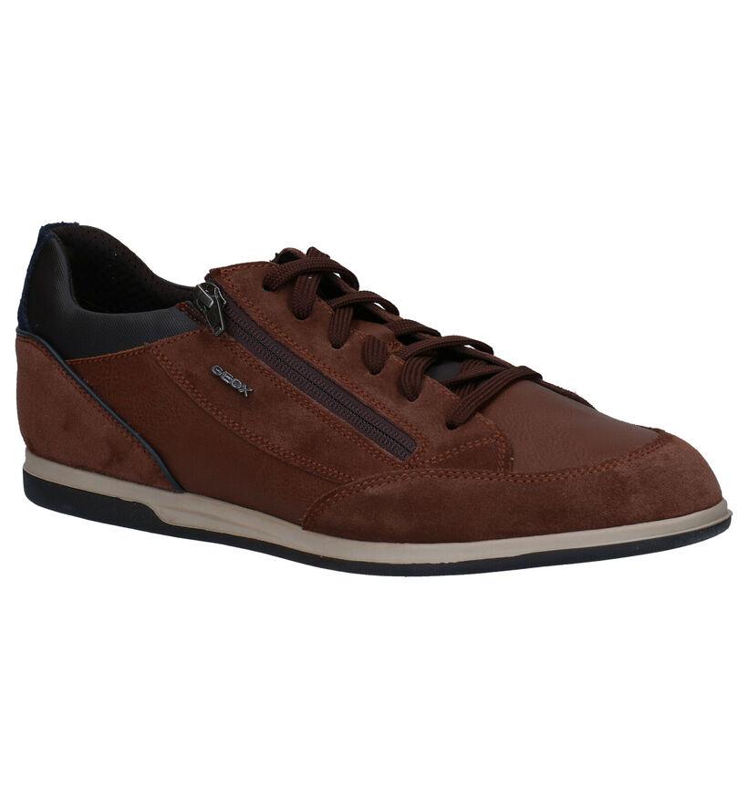 Geox Renan Chaussures à lacets en Brun en daim (278959)