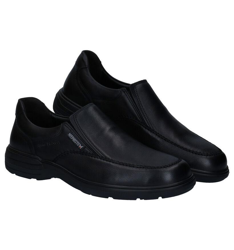 Mephisto Davy Riko Chaussures slip-on en Noir en cuir (281011)