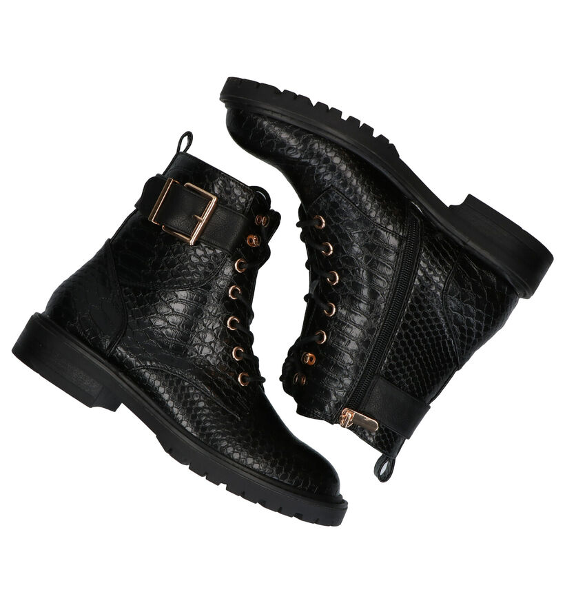 Youh! Zwarte Boots in kunstleer (277410)