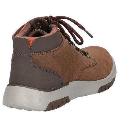 Skechers Bellinger Bruine Boots in imitatieleer (262813)