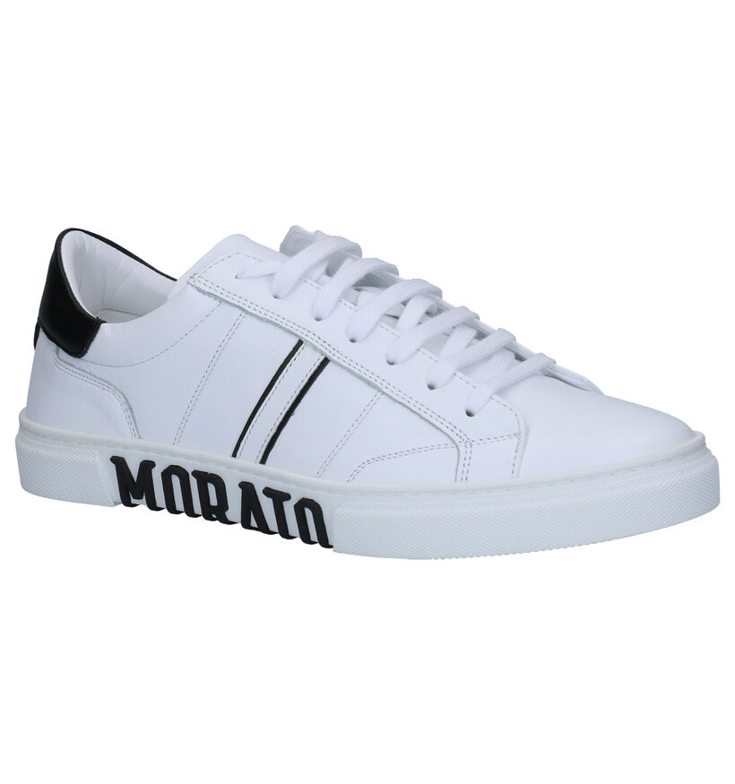 Anthony Morato Witte Sneakers in leer (261543)