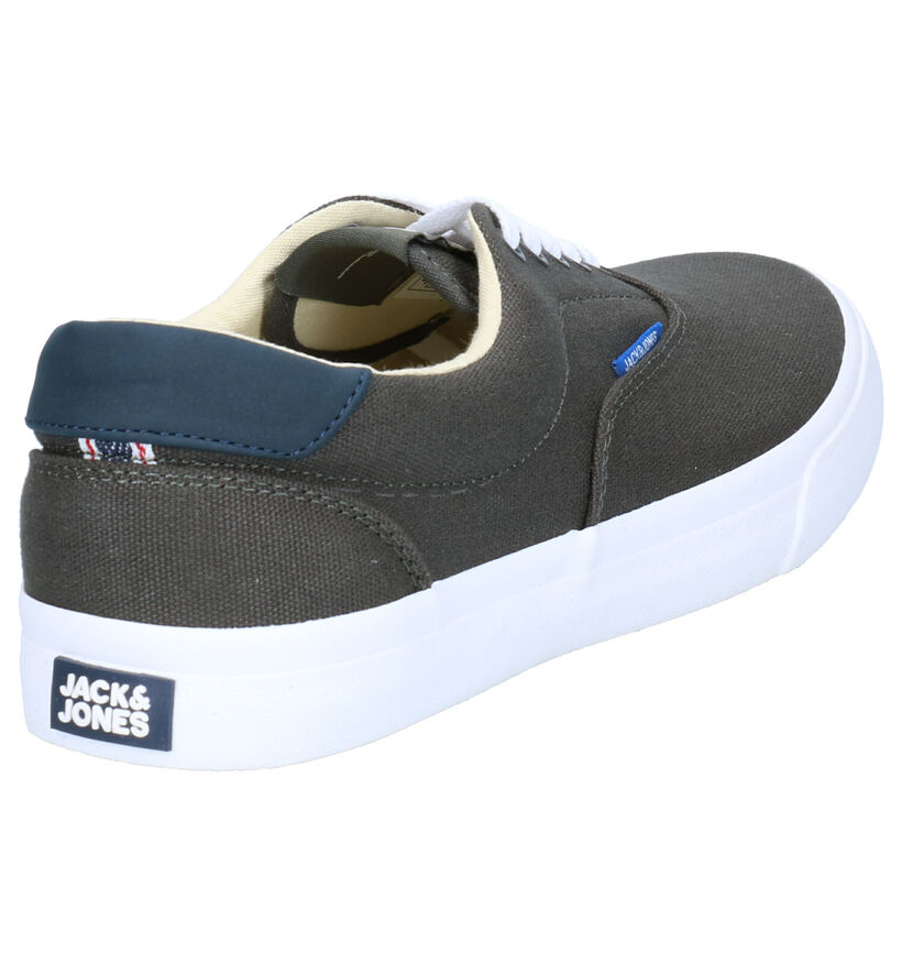 Jack & Jones Mork Canvas Witte Veterschoenen in stof (269163)