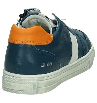 Little David Donker Blauwe Rits/Veter Sneakers, Blauw, pdp