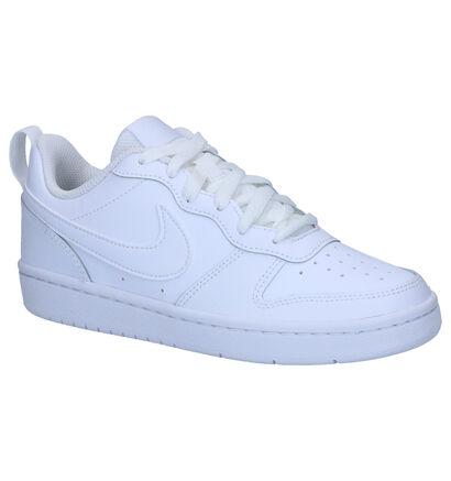 Witte Sneakers Nike Court Borough Low in kunstleer (249911)
