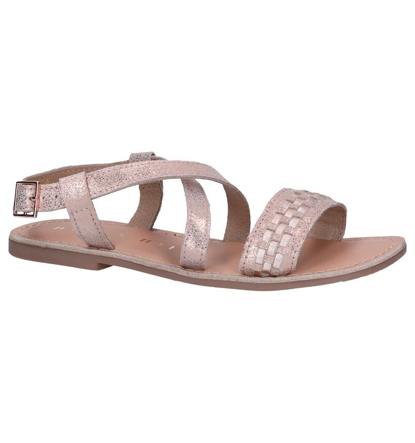 Rose Golden Sandalen Milo & Mila in nubuck (241265)