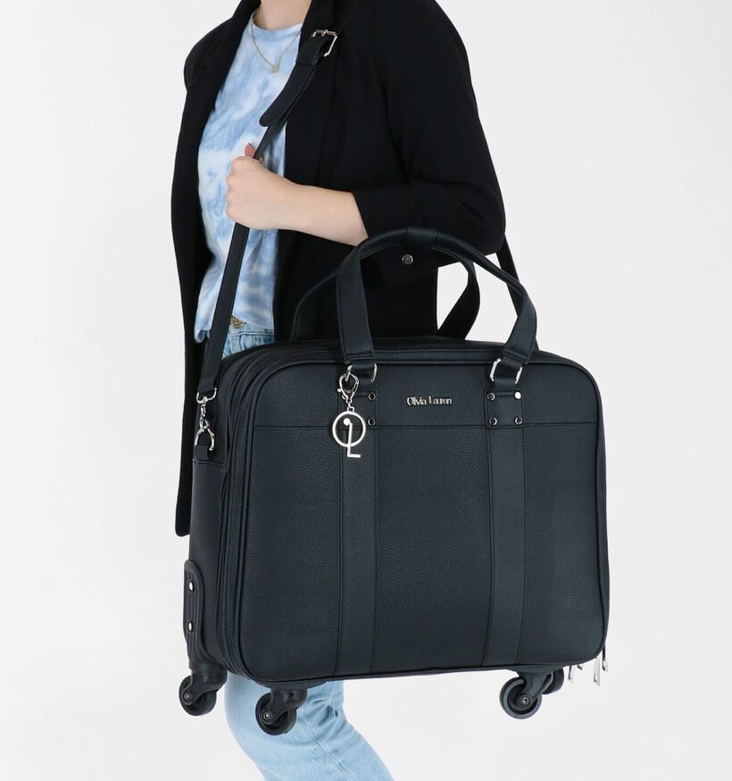 Olivia Lauren James Sac à roulettes en Noir en simili cuir (283520)