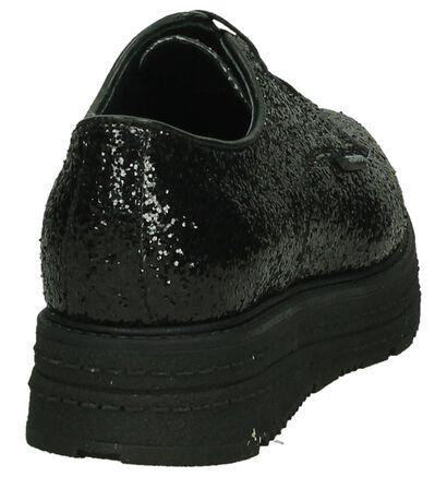 Zwarte Veterschoenen met Glitter Scapa in kunstleer (204180)