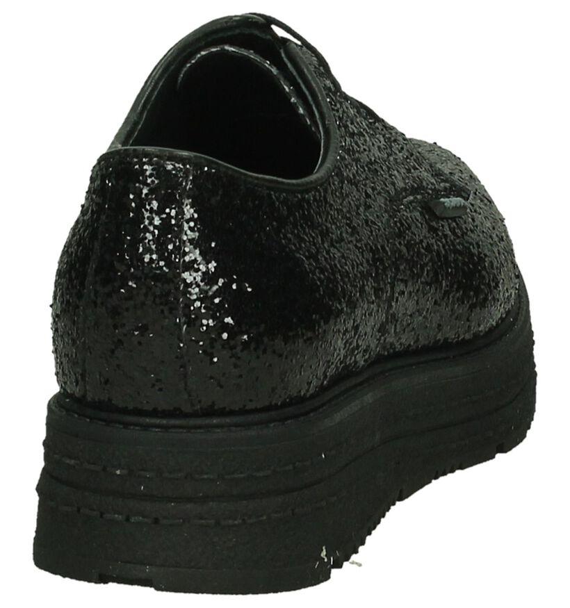 Scapa Chaussures à lacets en Noir en simili cuir (204180)