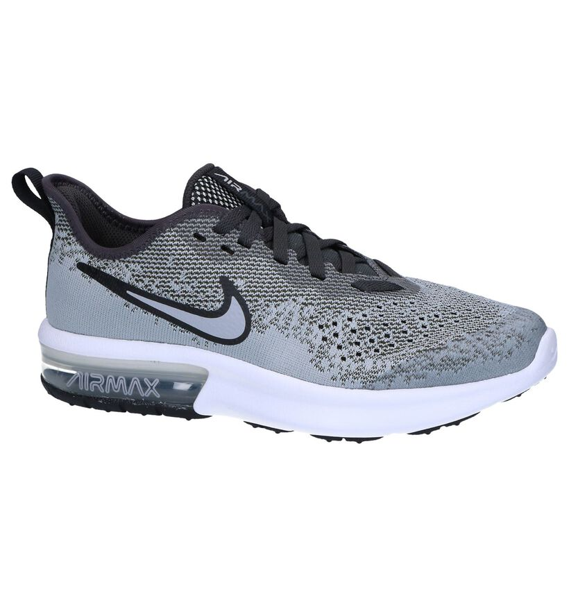 Nike Air Max Baskets basses en Gris en textile (249817)