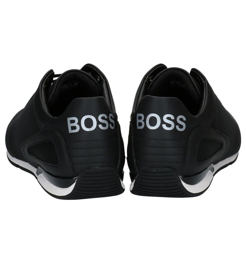 Hugo Boss Zwarte Veterschoenen in kunstleer (281666)