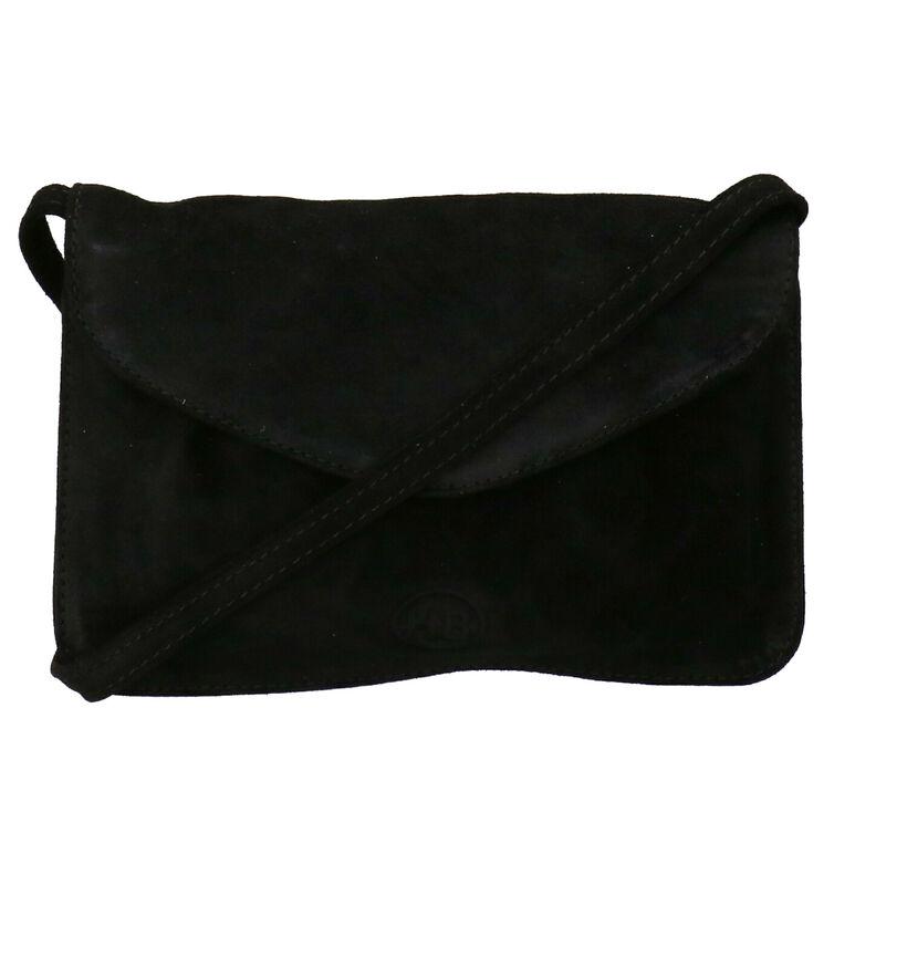 Hampton Bays Sac porté croisé en Noir en nubuck (275613)