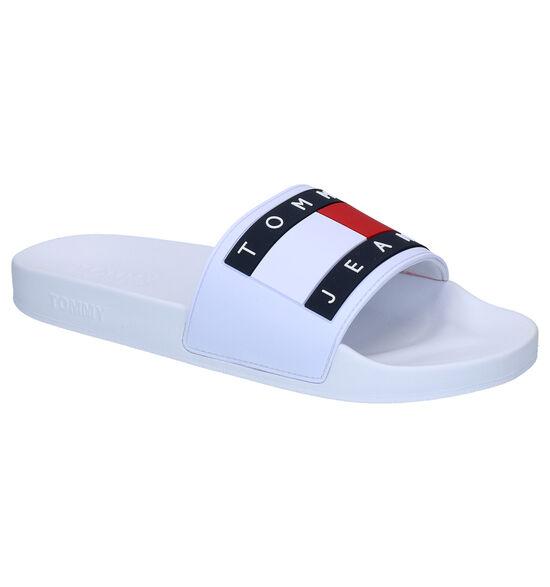 Tommy Hilfiger Flag Pool Slide Witte Slippers