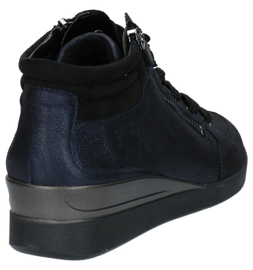 Ara Lazio Chaussures hautes en Bleu en nubuck (260846)