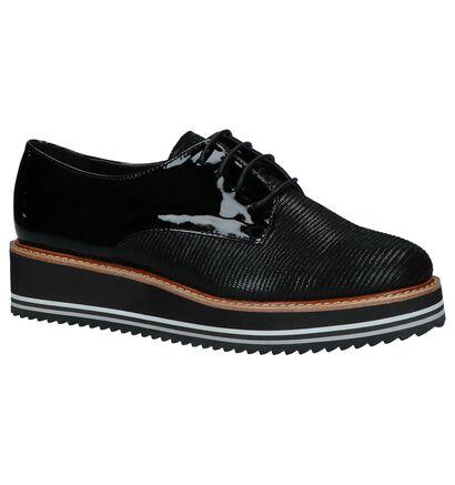 Crinkles Chaussures à lacets en Noir en cuir (233424)
