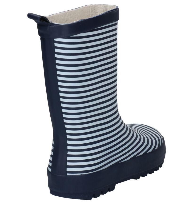 Dazzle Stripes Blauw/Witte Regenlaarzen in kunststof (283827)