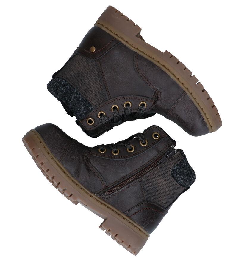 Sprox Bruine Boots in kunstleer (291373)
