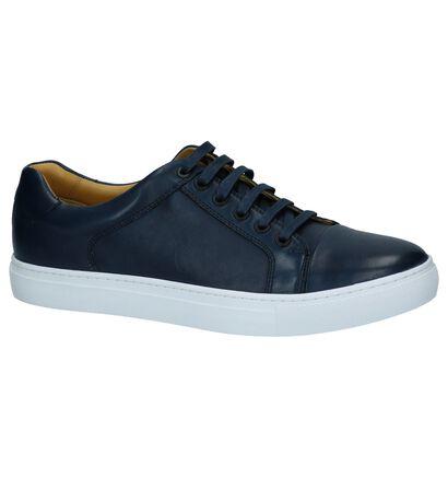 Steptronic Yale Donker Blauwe Sneakers in leer (241076)