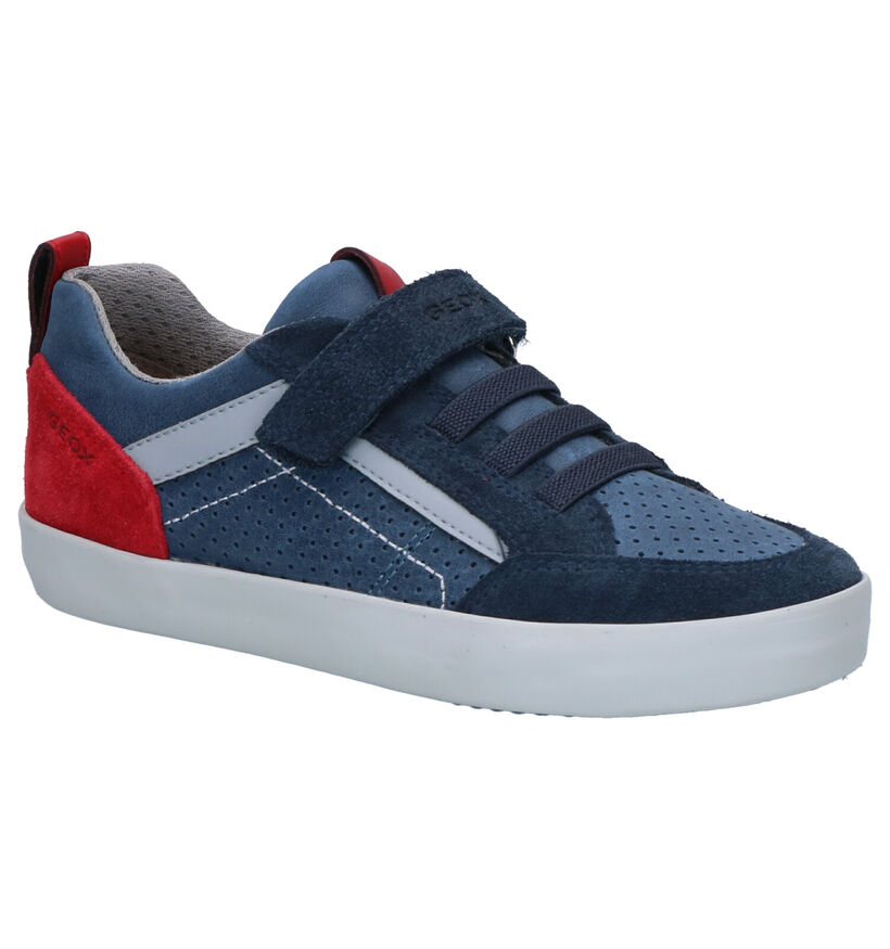 Geox Chaussures basses en Bleu foncé en cuir (265797)