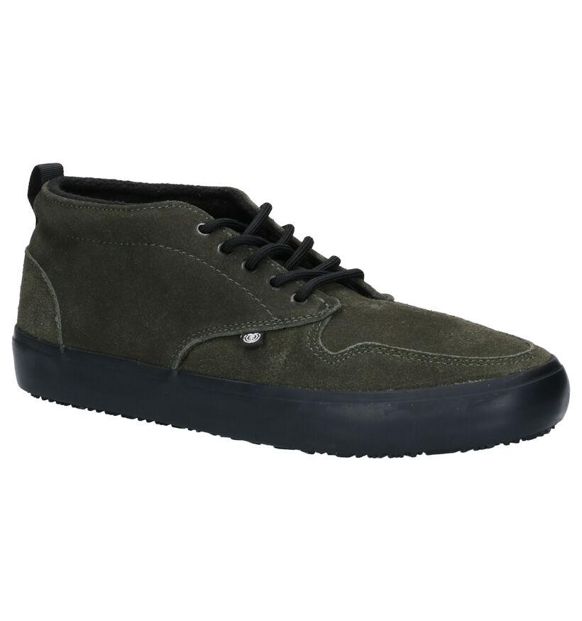 Element Preston 2 Chaussures de skate en Vert Kaki en daim (254904)